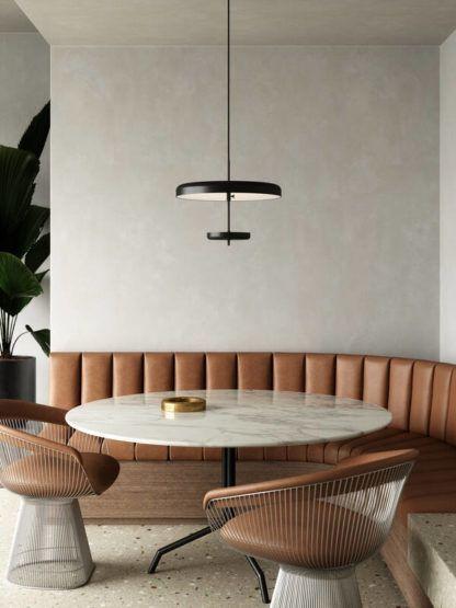 Nowoczesna lampa wisząca Mobile - DFTP, nad stół, płaski klosz