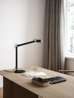 Lampa stołowa / kinkiet Nobu - DFTP, czarna, LED