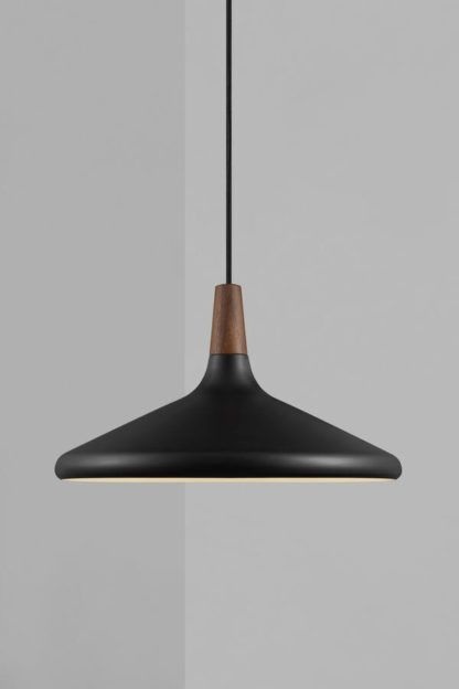 Lampa wisząca Nori 39 - DFTP, szeroki, czarny klosz