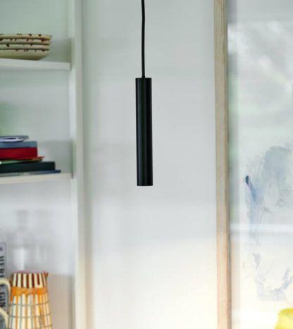 Czarna lampa wisząca Omari  - Nordlux , 3-stopniowy ściemniacz