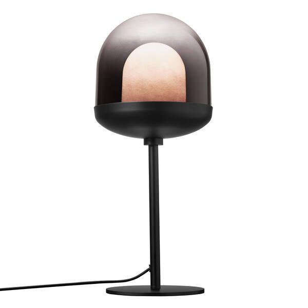 Czarna lampa stołowa Magia - Nordlux, szklany klosz