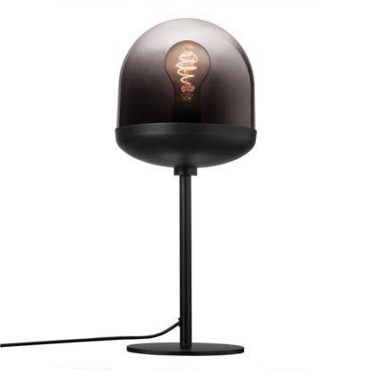 czarna lampa stołowa do sypialni
