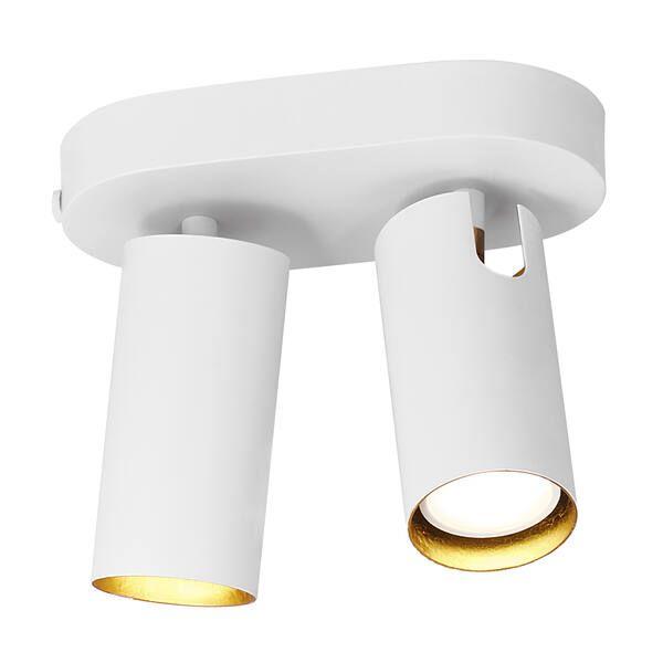 biały reflektor ze złotym środkiem