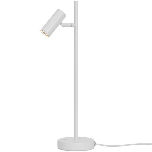 Biała lampa biurkowa Omari - Nordlux, LED, ściemniacz