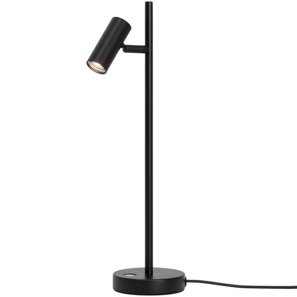Czarna lampa biurkowa Omari - Nordlux, płynny ściemniacz