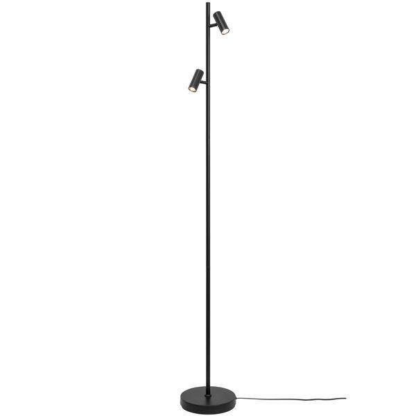Czarna lampa podłogowa Omari - Nordlux, LED, ściemniacz