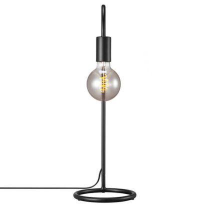 czarna lampa biurkowa industrialna