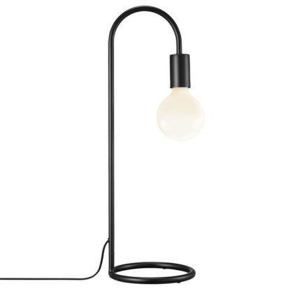 metalowa lampa biurkowa bez klosza
