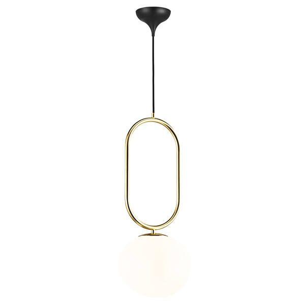 Elegancka lampa wisząca Shapes 22 - DFTP, szklany klosz