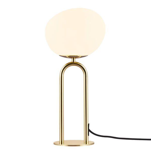 Lampa stołowa Shapes - DFTP, złota baza, asymetryczny klosz
