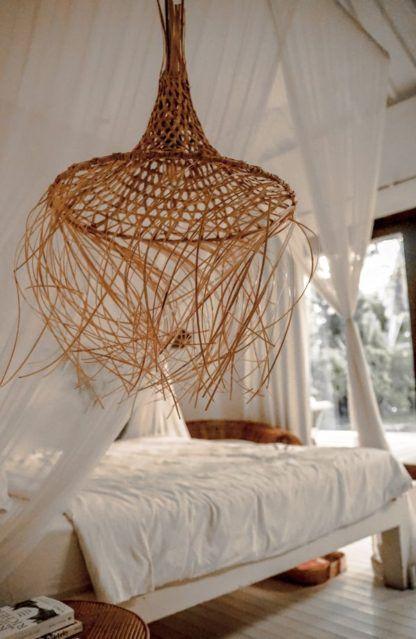Lampa wisząca Tropic - rattanowy klosz