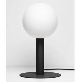 Czarna lampka nocna Matuba - mleczna żarówka 20cm