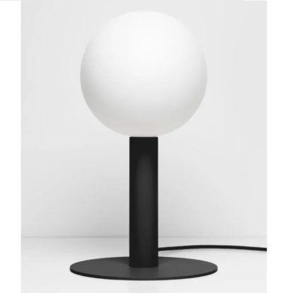 czarna lampa stołowa mała