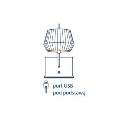 Kinkiet Dicte - Nordlux, biały abażur, port USB