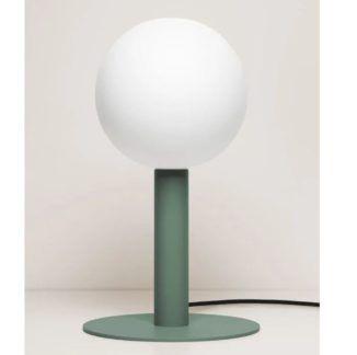 Zielona lampa stołowa Matuba - żarówka 20cm