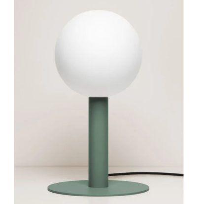 zielona lampa stołowa nowoczesna