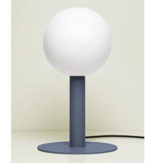 Niebieska lampa stołowa Matuba - żarówka 20cm