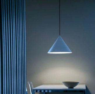 Lampa wisząca Konko Light - 45cm, niebieski stożek