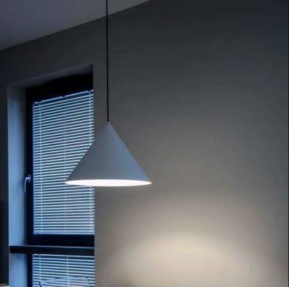 Duża lampa wisząca Konko Light - 60cm, niebieska