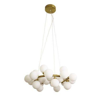 lampa wisząca na złotej obręczy