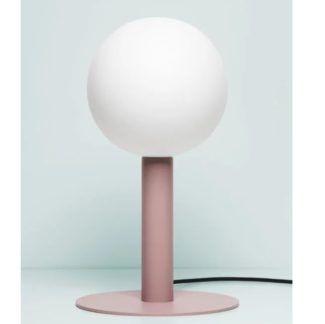 Lampa stołowa Matuba - jasny róż, żarówka 20cm