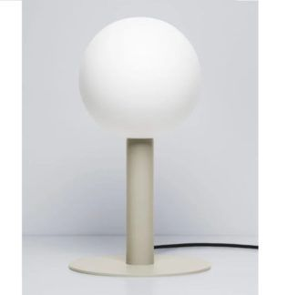 Lampa stołowa Matuba - beżowa podstawa, żarówka 20cm