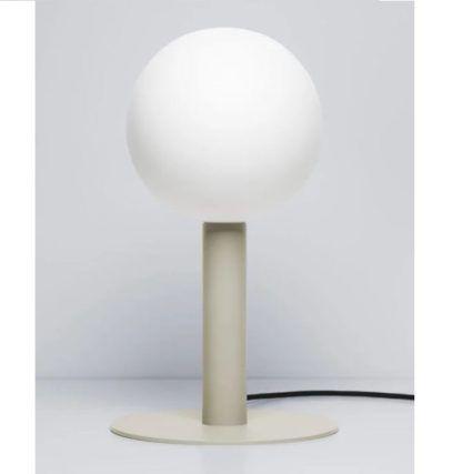 kremowa lampa stołowa