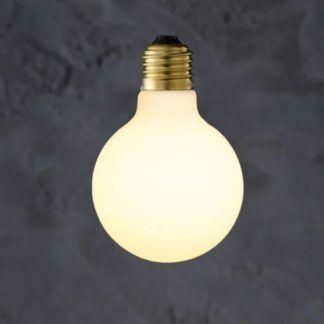 Dekoracyjna żarówka Globe 80 Porcelain - ciepłe światło