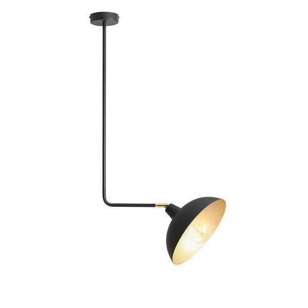 lampa sufitowa z dużym czarnym kloszem