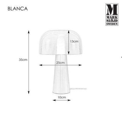 Lampa stołowa Blanca - półokrągły czarny klosz, złota podstawa