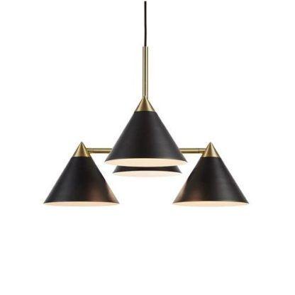 czarno-złota lampa wisząca do salonu