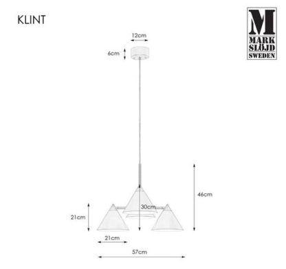 Biała lampa wisząca Klint - srebrne detale, 4 klosze
