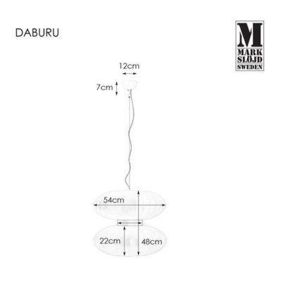 Lampa wisząca Daburu - biały lampion