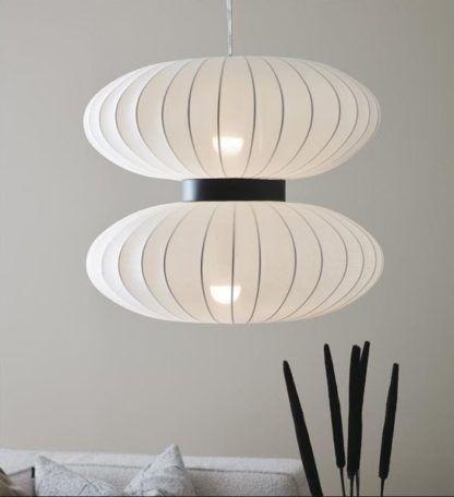 lampa wisząca w stylu japandi