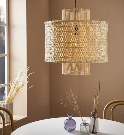 naturalna pleciona lampa wisząca w stylu boho