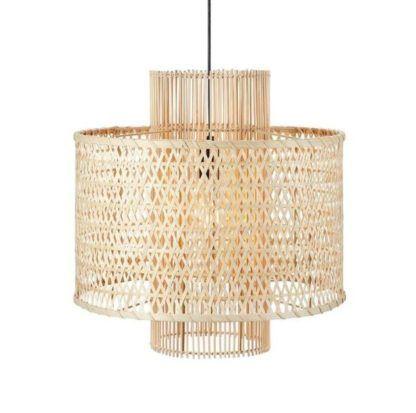 rattanowa lampa wisząca do salonu