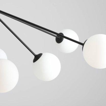 lampa na białe kule dużo światła