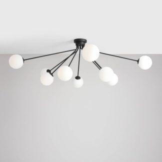 Duża lampa sufitowa Holm 10 - szklane klosze