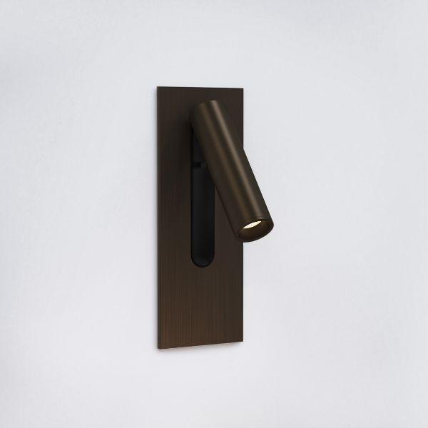 Brązowy kinkiet Fuse 3 - LED, do czytania