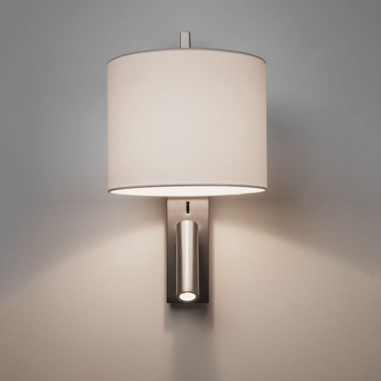 Srebrny kinkiet Ravello - reflektor LED, matowy