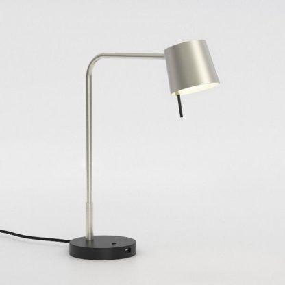 nowoczesna lampa biurkowa z portem USB