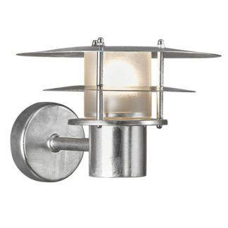Srebrny kinkiet Bastia 24 - mleczny klosz, IP54