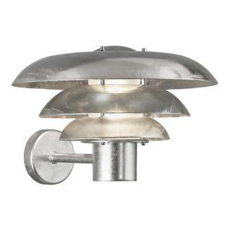 Srebrny kinkiet Kurnos 35 - IP54, wymienna żarówka