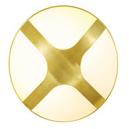 złoty kinkiet elewacyjny nowoczesny