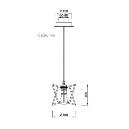 Lampa wisząca Polinesia S - beżowy klosz, IP44