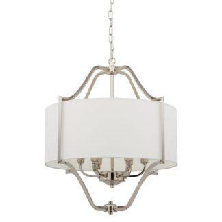 Elegancka lampa wisząca Nuntucet VI - biały abażur