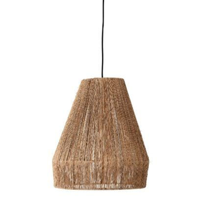 Naturalna lampa wisząca Ima - jutowy klosz