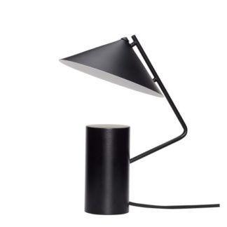 Nowoczesna lampa stołowa Hat - czarna