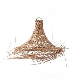 Rattanowa lampa wisząca Mykonos M - naturalny odcień