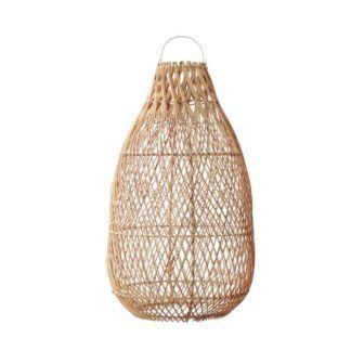 Lampa wisząca Kendi - naturalny rattan, styl boho